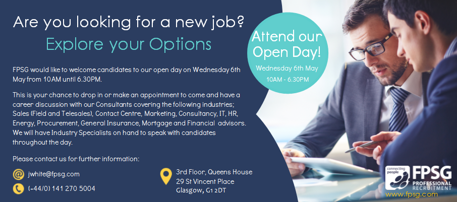 Attend our Open Day and explore your job opportunities!