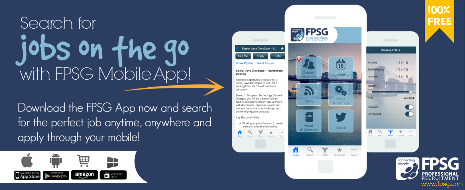 Find a Job on the go with FPSG new Mobile App!