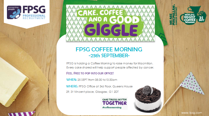FPSG – MACMILLAN COFFEE MORNING
