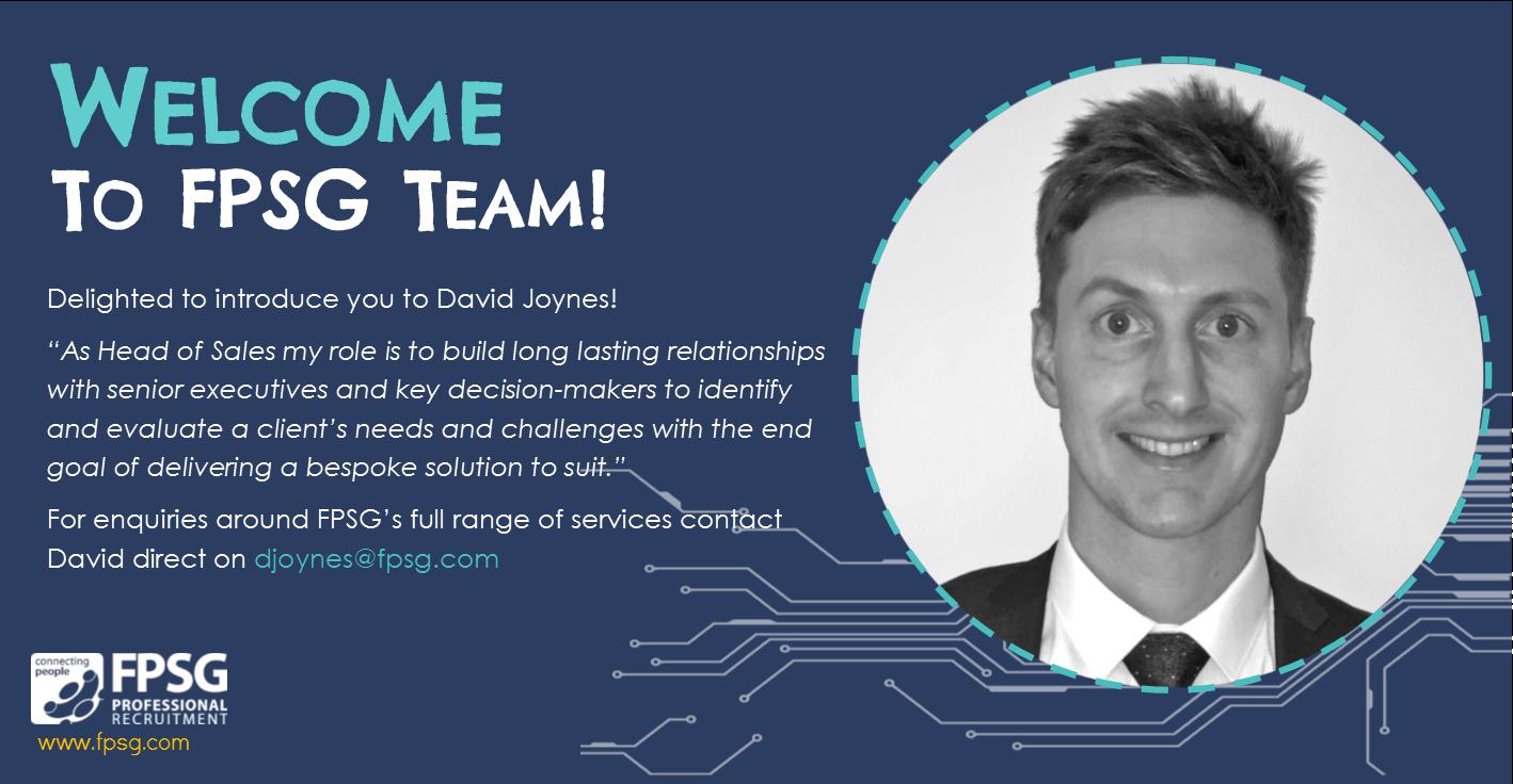 David Joynes; Head of Sales at FPSG