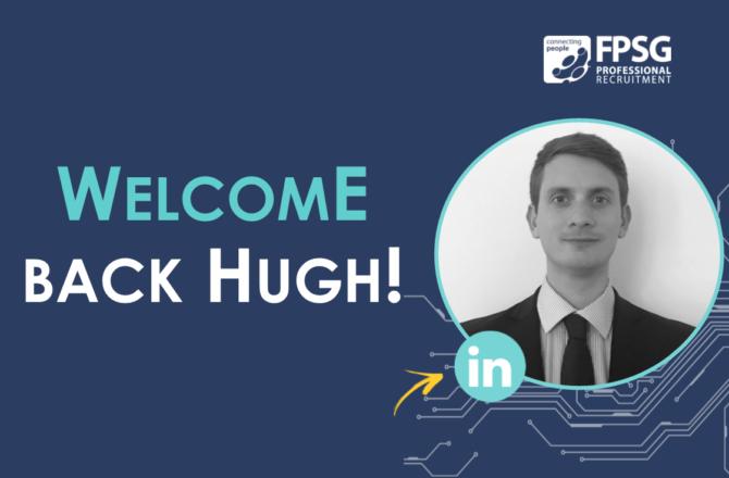 FPSG Welcome Back Managing Consultant Hugh Hardie!