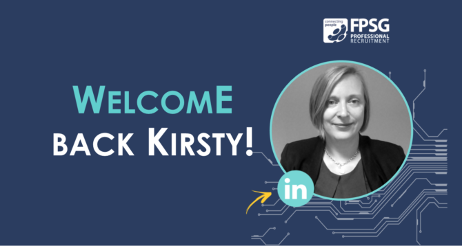 Welcome back to Kirsty Peacock, Operations Director!