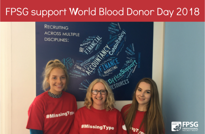 FPSG support World Blood Donor Day 2018!