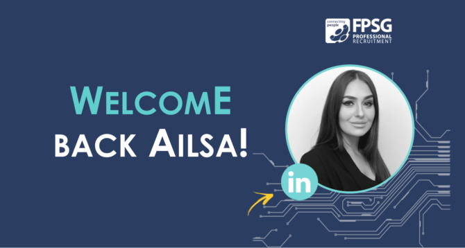 FPSG Welcome Back Recruitment Consultant Ailsa Wylie!