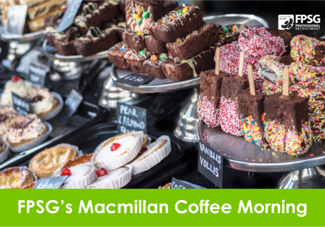 FPSG's Macmillan Coffee Morning 2018