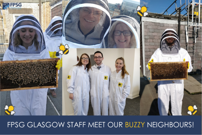 FPSG Glasgow staff meet our buzzy neighbours!