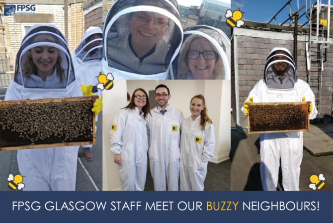 FPSG Glasgow staff meet our buzzy neighbours!
