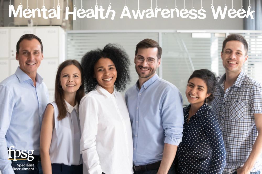 happy staff office mental health awareness week