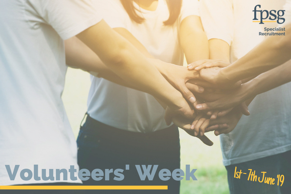 volunteers' week 1st - 7th june 2019 hands working together