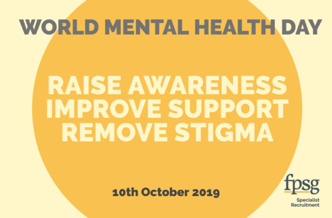 Marking World Mental Health Day 10th October 2019